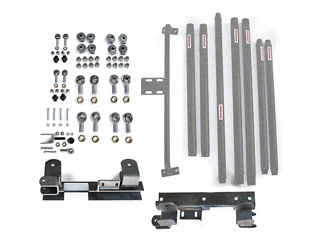 Steinjager DOM Tube Long Arm Travel Kit for 2 to 6-Inch Lift; Gray Hammertone (97-06 Jeep Wrangler TJ)
