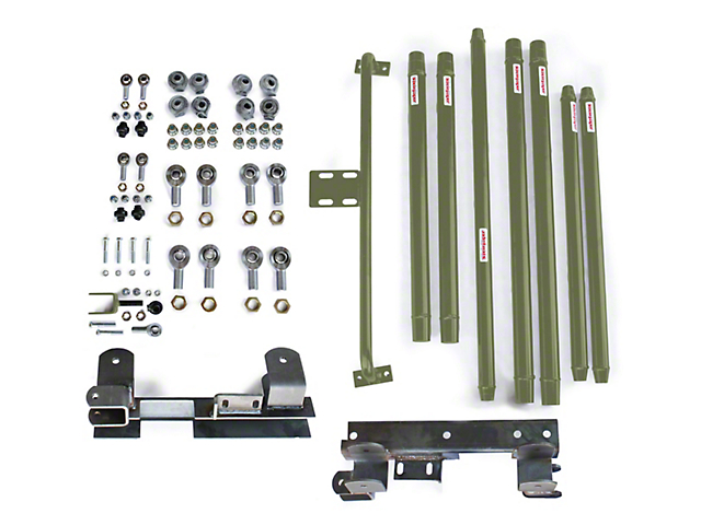 Steinjager DOM Tube Long Arm Travel Kit for 2-6 in. Lift - Locas Green (97-06 Jeep Wrangler TJ)
