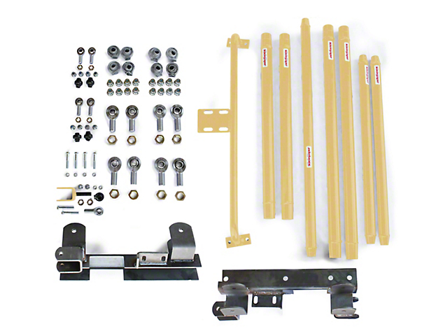 Steinjager DOM Tube Long Arm Travel Kit for 2 to 6-Inch Lift; Military Beige (97-06 Jeep Wrangler TJ)