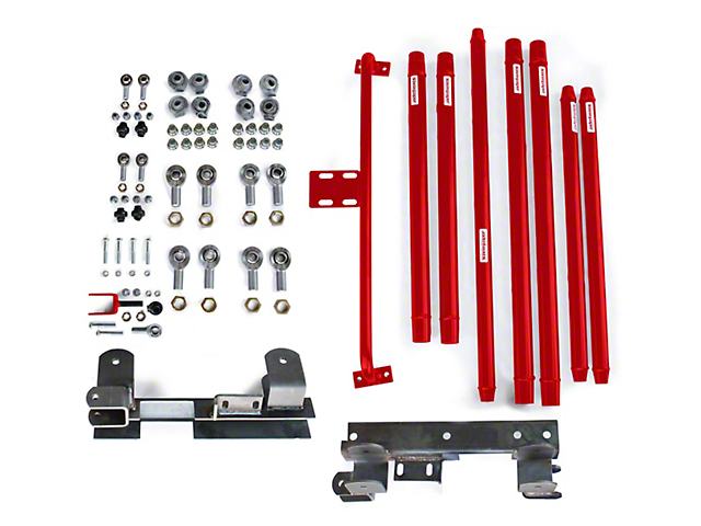 Steinjager DOM Tube Long Arm Travel Kit for 2 to 6-Inch Lift; Red Baron (97-06 Jeep Wrangler TJ)