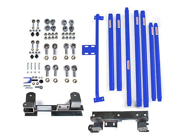 Steinjager DOM Tube Long Arm Travel Kit for 2 to 6-Inch Lift; Southwest Blue (97-06 Jeep Wrangler TJ)
