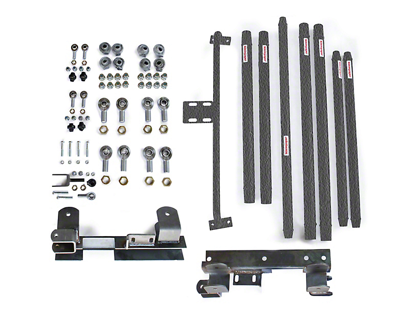 Steinjager DOM Tube Long Arm Travel Kit for 2-6 in. Lift - Textured Black (97-06 Jeep Wrangler TJ)