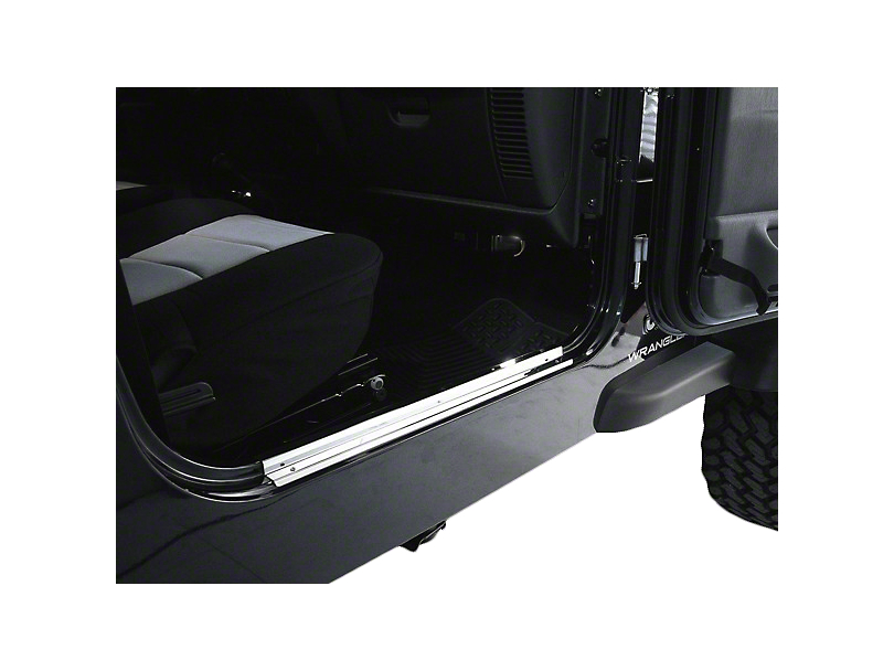 Rugged Ridge Door Entry Guards; Stainless Steel (97-06 Jeep Wrangler TJ)