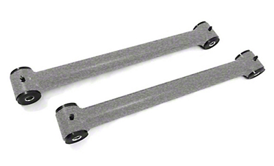 Steinjager Stainless Fixed Rear Lower Control Arms for 0-2.5 in. Lift - Gray Hammertone (07-18 Jeep Wrangler JK)