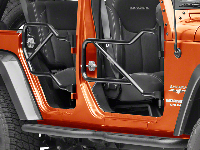 Steinjager Front and Rear Trail Tube Doors; Black (07-18 Jeep Wrangler JK 4 Door)