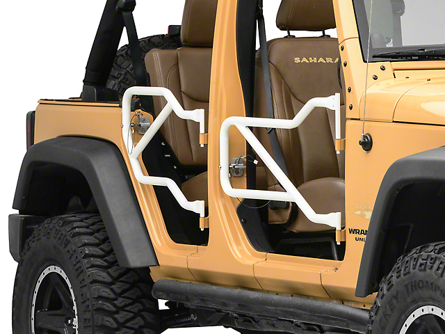 Steinjager Front and Rear Trail Tube Doors; Cloud White (07-18 Jeep Wrangler JK 4 Door)