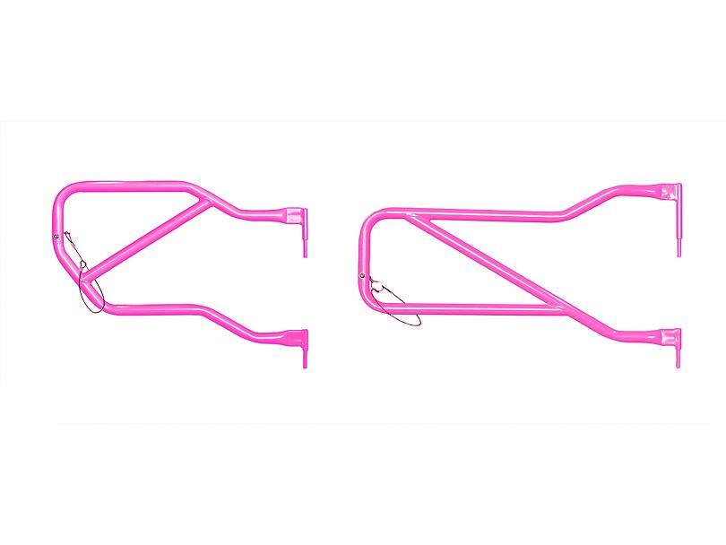 Steinjager Front & Rear Trail Tube Doors - Hot Pink (07-18 Jeep Wrangler JK 4 Door)