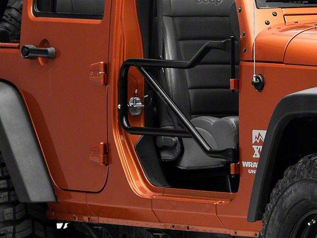 Steinjager Jeep Wrangler Front Trail Tube Doors - Black J0031026 (07 ...