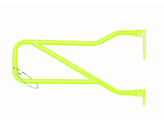 Steinjager Front Trail Tube Doors; Gecko Green (07-18 Jeep Wrangler JK)