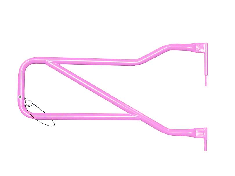 Steinjager Front Trail Tube Doors; Pinky (07-18 Jeep Wrangler JK)