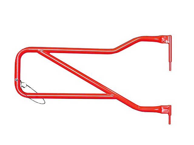 Steinjager Front Trail Tube Doors - Red Baron (07-18 Jeep Wrangler JK)