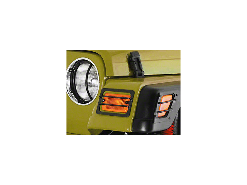 Smittybilt Black 4-Piece Euro Turn Signal Guards (97-06 Wrangler TJ)