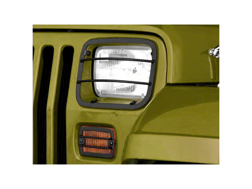 Rugged Ridge 4-Piece Headlight & Turn Signal Euro Guard Kit - Black (87-95 Wrangler YJ)