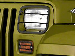 Rugged Ridge Euro Headlight and Turn Signal Light Guards - Black (87-95 Jeep Wrangler YJ)