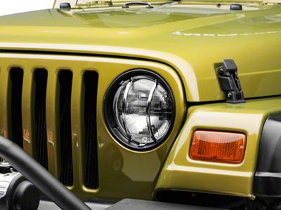 Rugged Ridge Headlight Euro Guard Kit - Stainless Steel (97-06 Jeep Wrangler TJ)