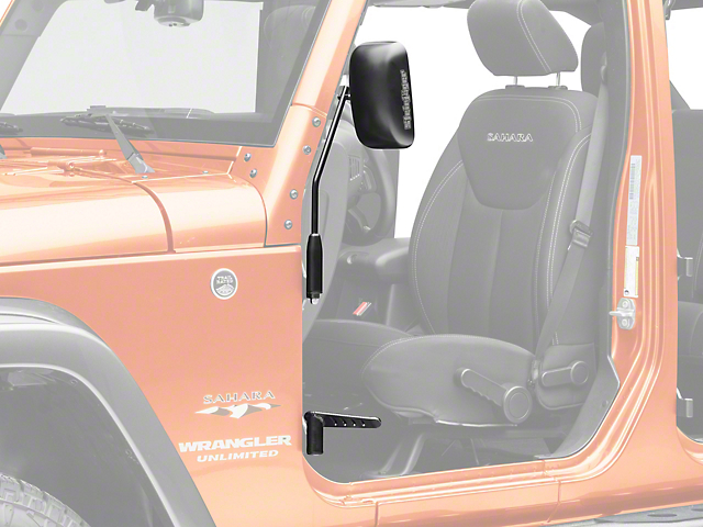 Steinjager Premium Mirror & Foot Peg Kit - Black (07-18 Jeep Wrangler JK)