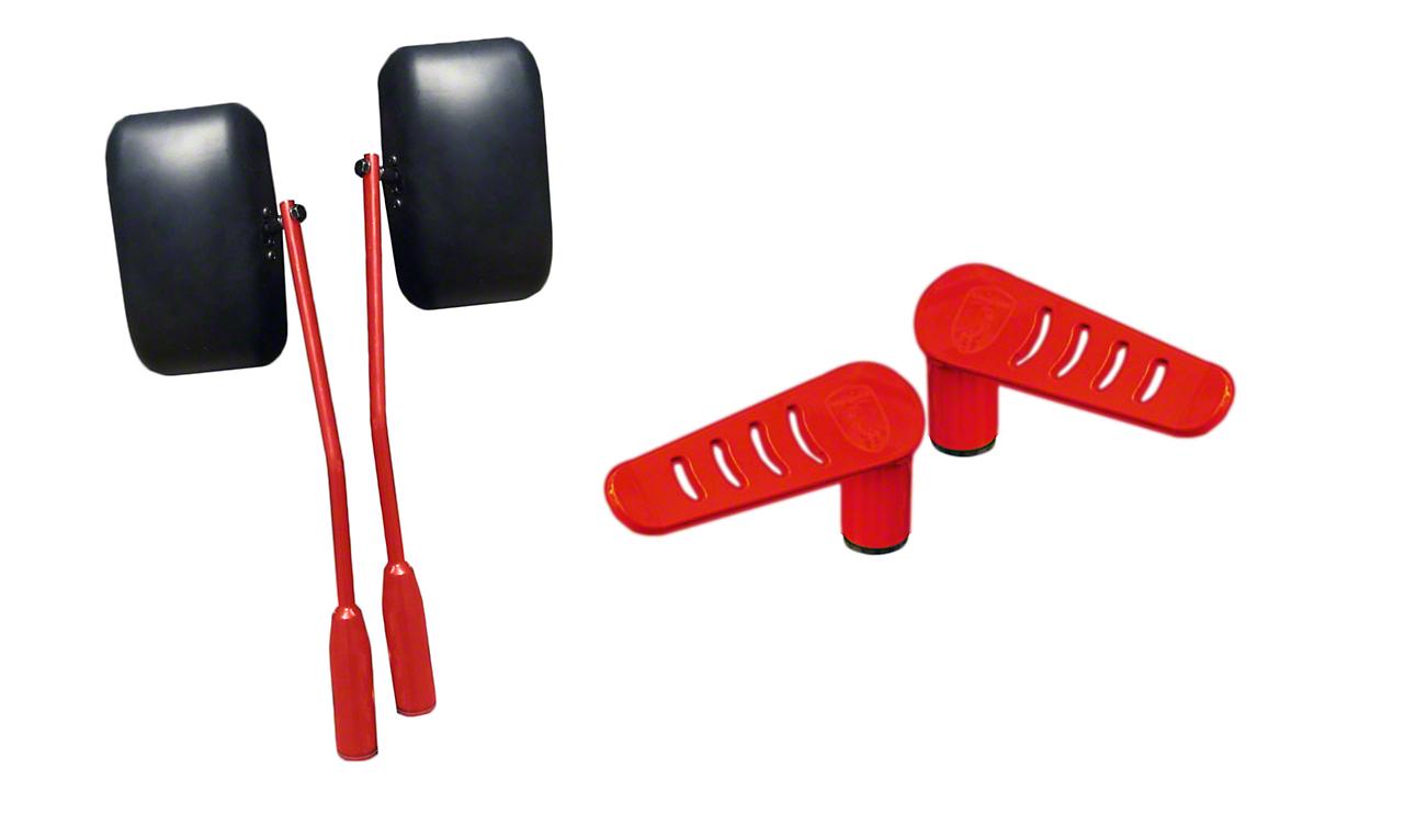 Steinjager Premium Mirror & Foot Peg Kit - Red Baron (07-18 Jeep Wrangler JK)