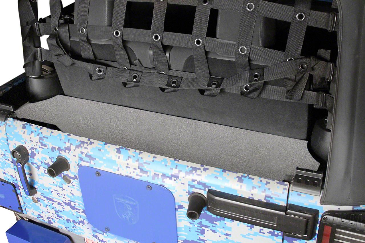 Steinjager Rear Storage Box - Gray Hammertone (07-18 Jeep Wrangler JK 2 Door)