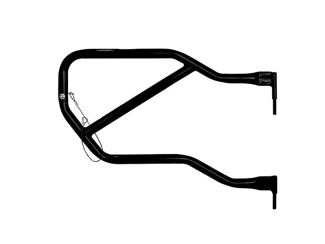 Steinjager Rear Trail Tube Doors - Black (07-18 Jeep Wrangler JK 4 Door)