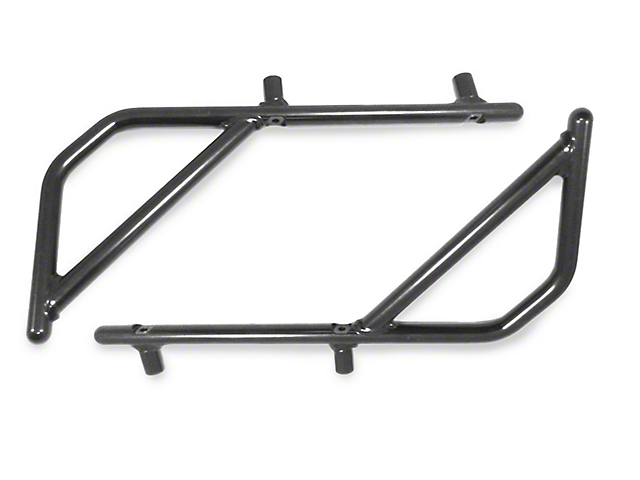 Steinjager Rigid Wire Form Rear Grab Handles - Black (07-18 Jeep Wrangler JK 2 Door)