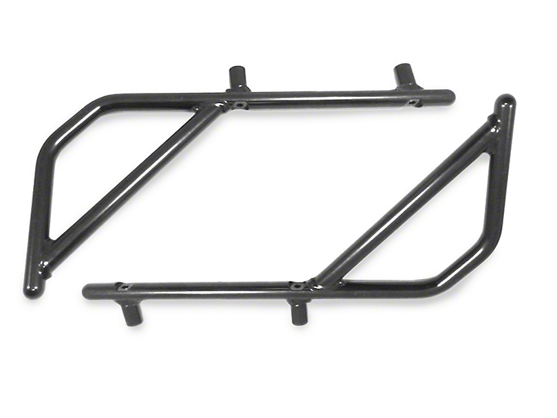 Steinjager Rigid Wire Form Rear Grab Handles - Black (07-18 Jeep Wrangler JK 4 Door)