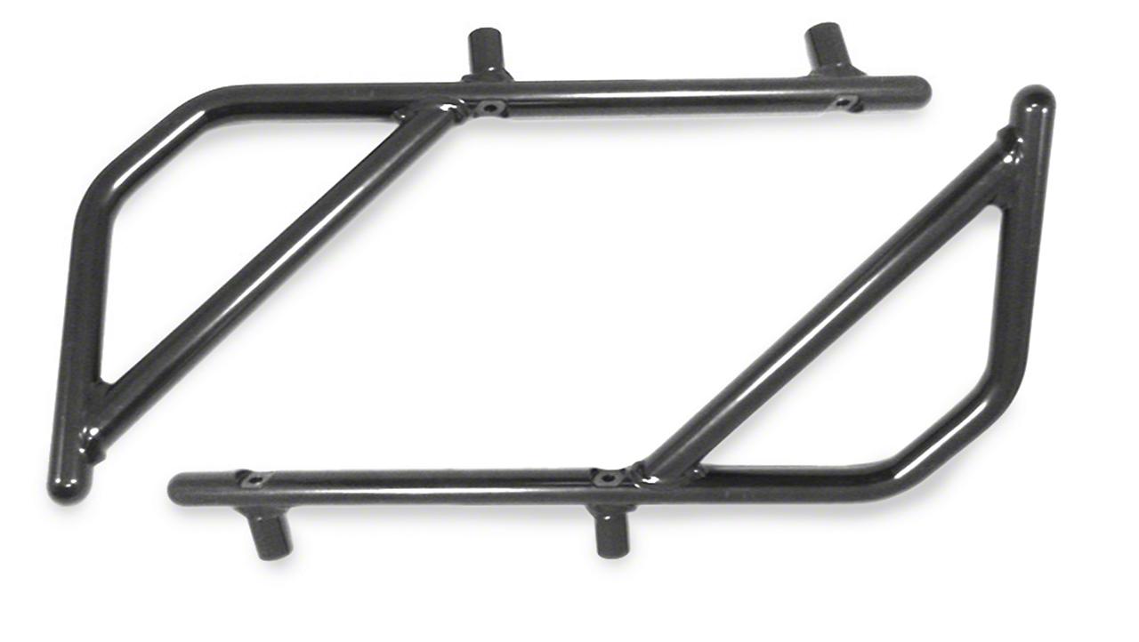 Steinjager Rigid Wire Form Rear Grab Handles - Black (07-18 Jeep Wrangler JK 4 Door)