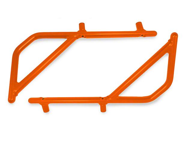 Steinjager Rigid Wire Form Rear Grab Handles - Fluorescent Orange (07-18 Jeep Wrangler JK 2 Door)