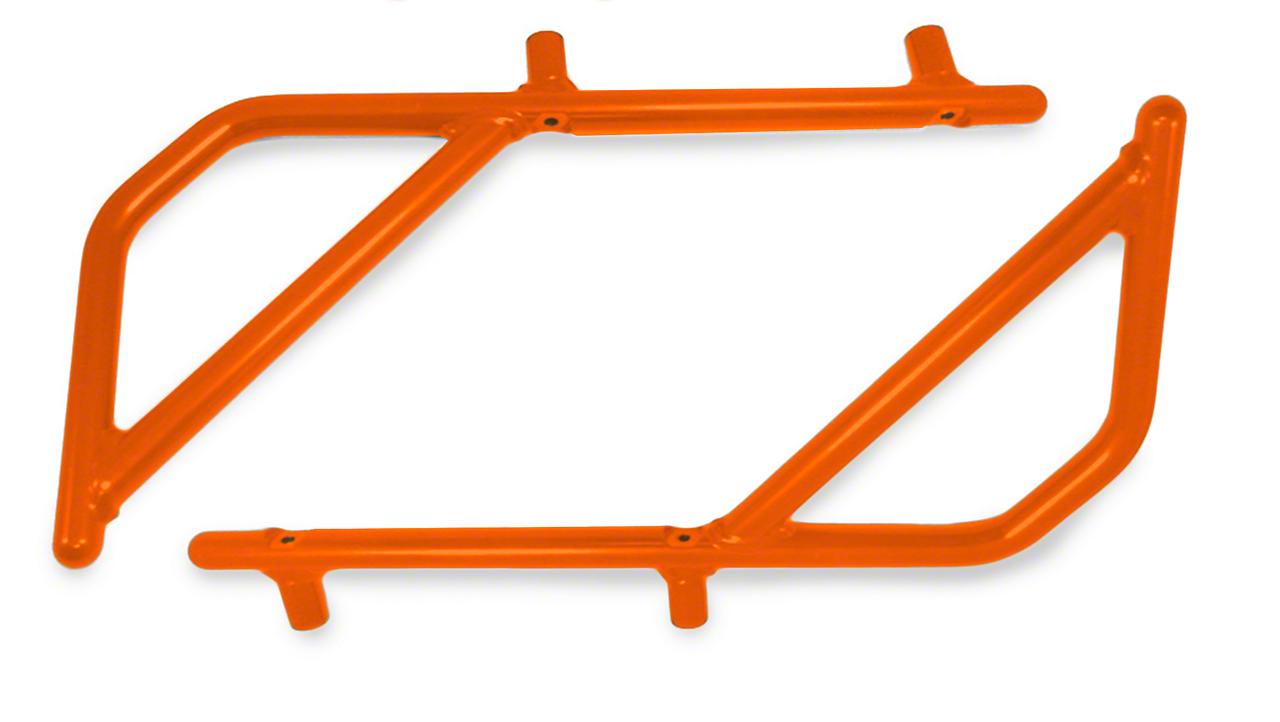 Steinjager Rigid Wire Form Rear Grab Handles - Fluorescent Orange (07-18 Jeep Wrangler JK 4 Door)
