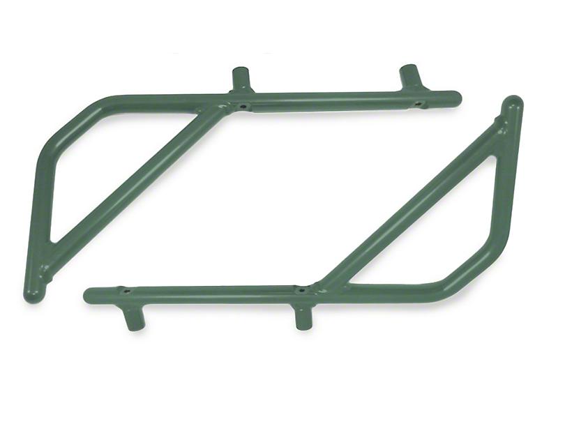 Steinjager Rigid Wire Form Rear Grab Handles - Locas Green (07-18 Jeep Wrangler JK 4 Door)