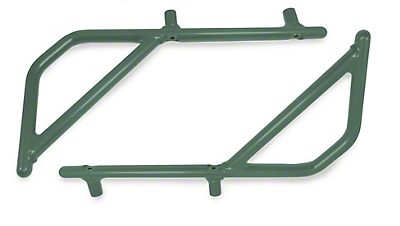 Steinjager Rigid Wire Form Rear Grab Handles - Locas Green (07-18 Jeep Wrangler JK 4 Door)