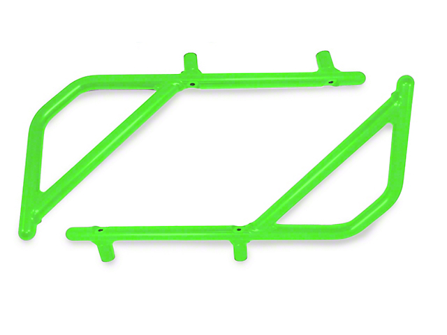 Steinjager Rigid Wire Form Rear Grab Handles - Neon Green (07-18 Jeep Wrangler JK 2 Door)