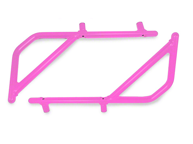 Steinjager Rigid Wire Form Rear Grab Handles - Pinky (07-18 Jeep Wrangler JK 4 Door)
