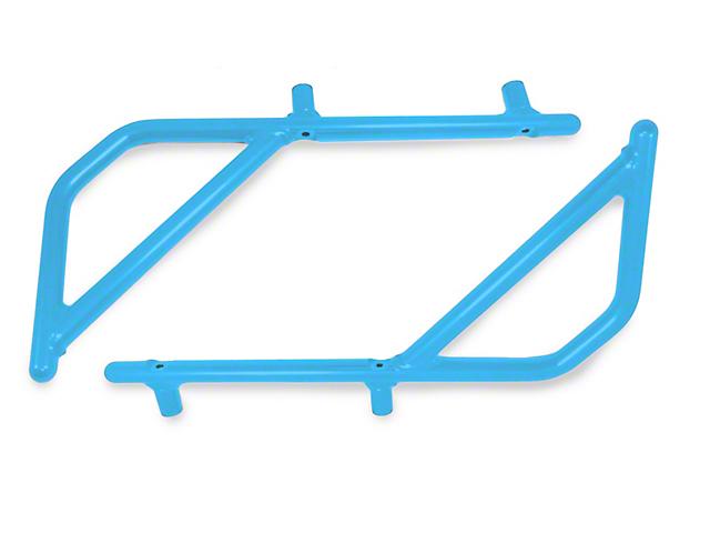 Steinjager Rigid Wire Form Rear Grab Handles - Playboy Blue (07-18 Jeep Wrangler JK 4 Door)