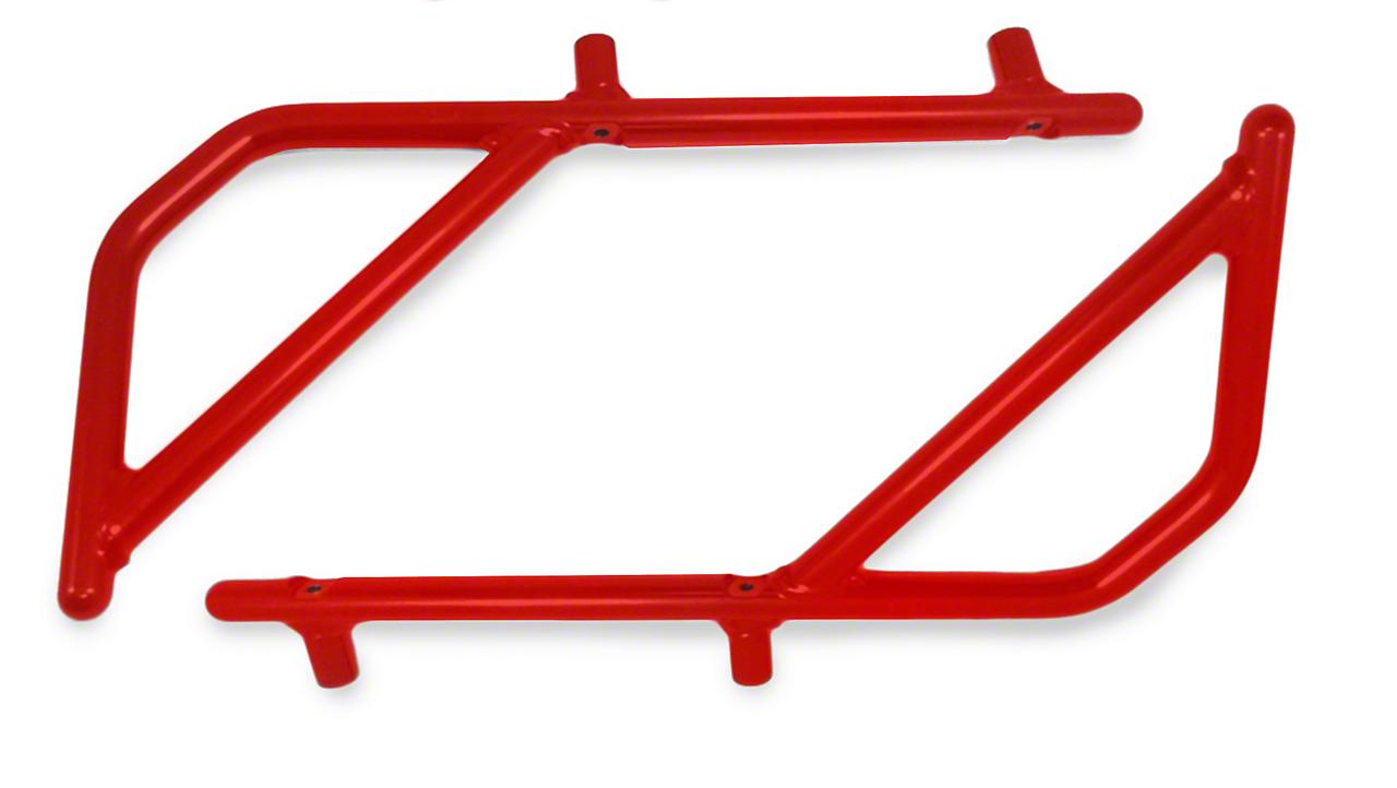 Steinjager Rigid Wire Form Rear Grab Handles - Red Baron (07-18 Jeep Wrangler JK 4 Door)