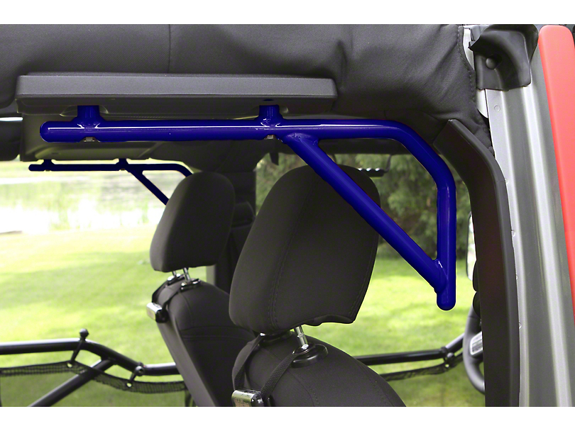 Steinjager Rigid Wire Form Rear Grab Handles - Southwest Blue (07-18 Jeep Wrangler JK 4 Door)