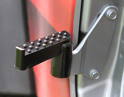 Steinjager Stationary Foot Pegs - Black Poly (07-18 Jeep Wrangler JK)