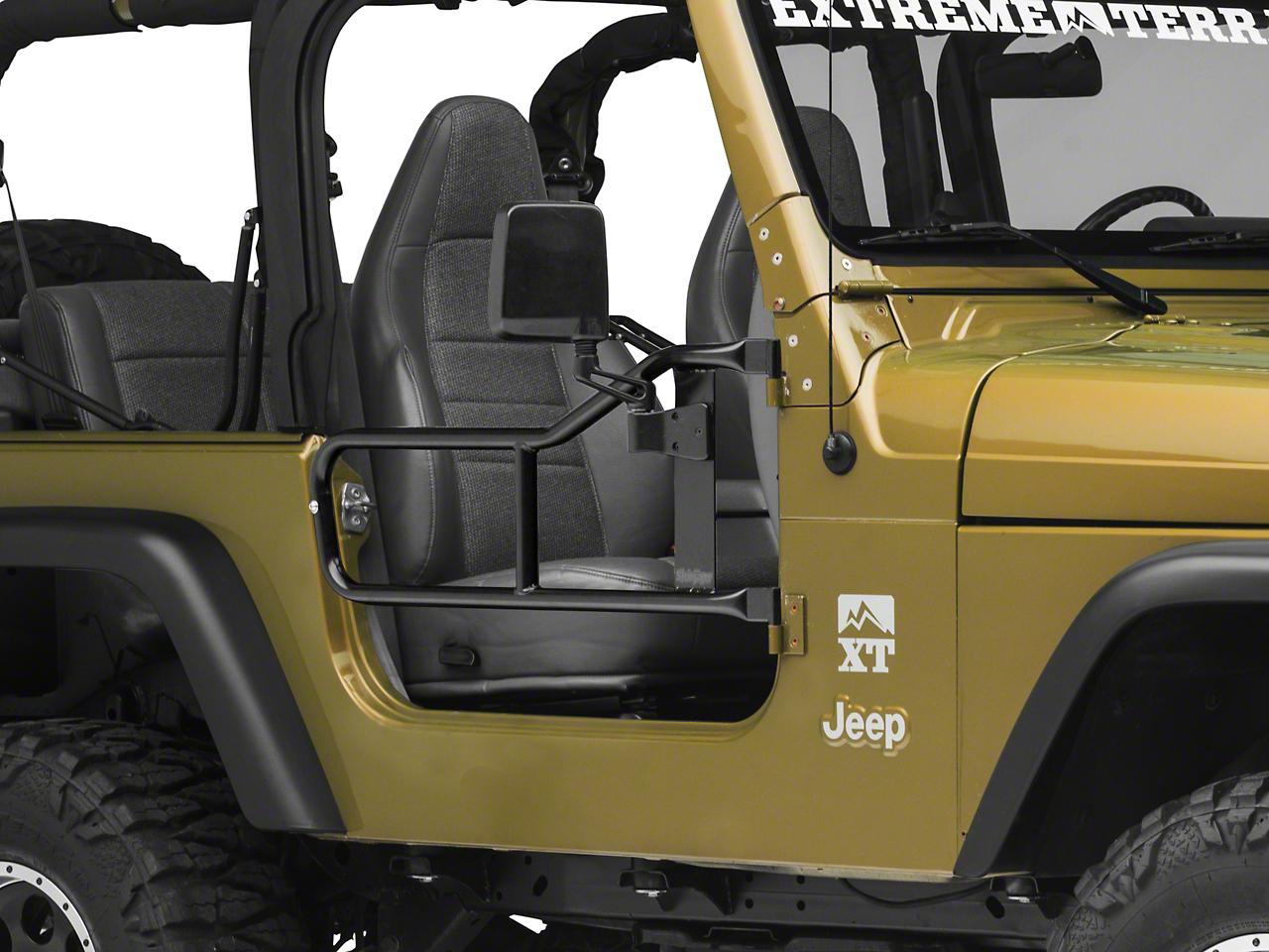 Steinjager Trail Tube Doors - Black (97-06 Jeep Wrangler TJ)