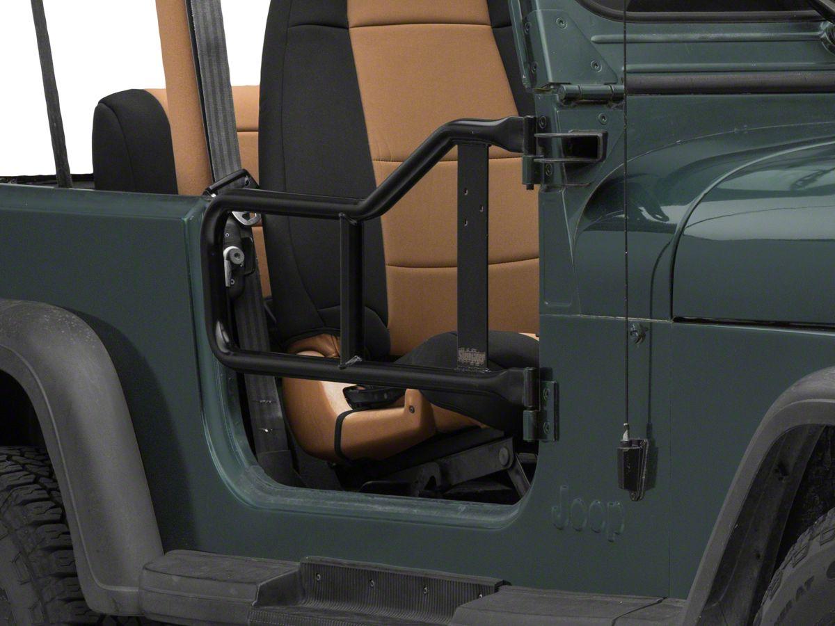 Steinjager Jeep Wrangler Trail Tube Doors Black J0043574 87 95 Jeep Wrangler Yj