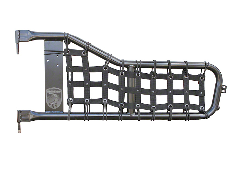 Steinjager Jeep Wrangler Tube Door Cargo Net Covers - Black J0044923 ...