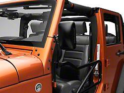 Steinjager Tube Door Mirror Kit - Black (07-18 Jeep Wrangler JK)