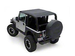 Smittybilt Extended Brief Top - Black Denim (97-06 Jeep Wrangler TJ)