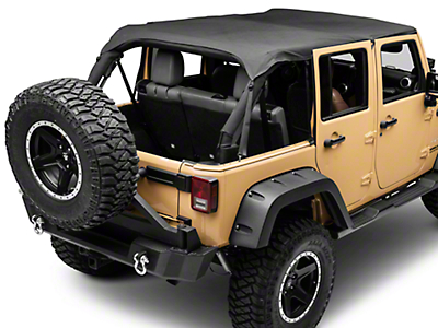 Smittybilt Extended Top - Black Diamond (07-09 Wrangler JK 4 Door)