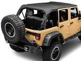 Smittybilt Extended Top; Black Diamond (07-09 Jeep Wrangler JK 4 Door)