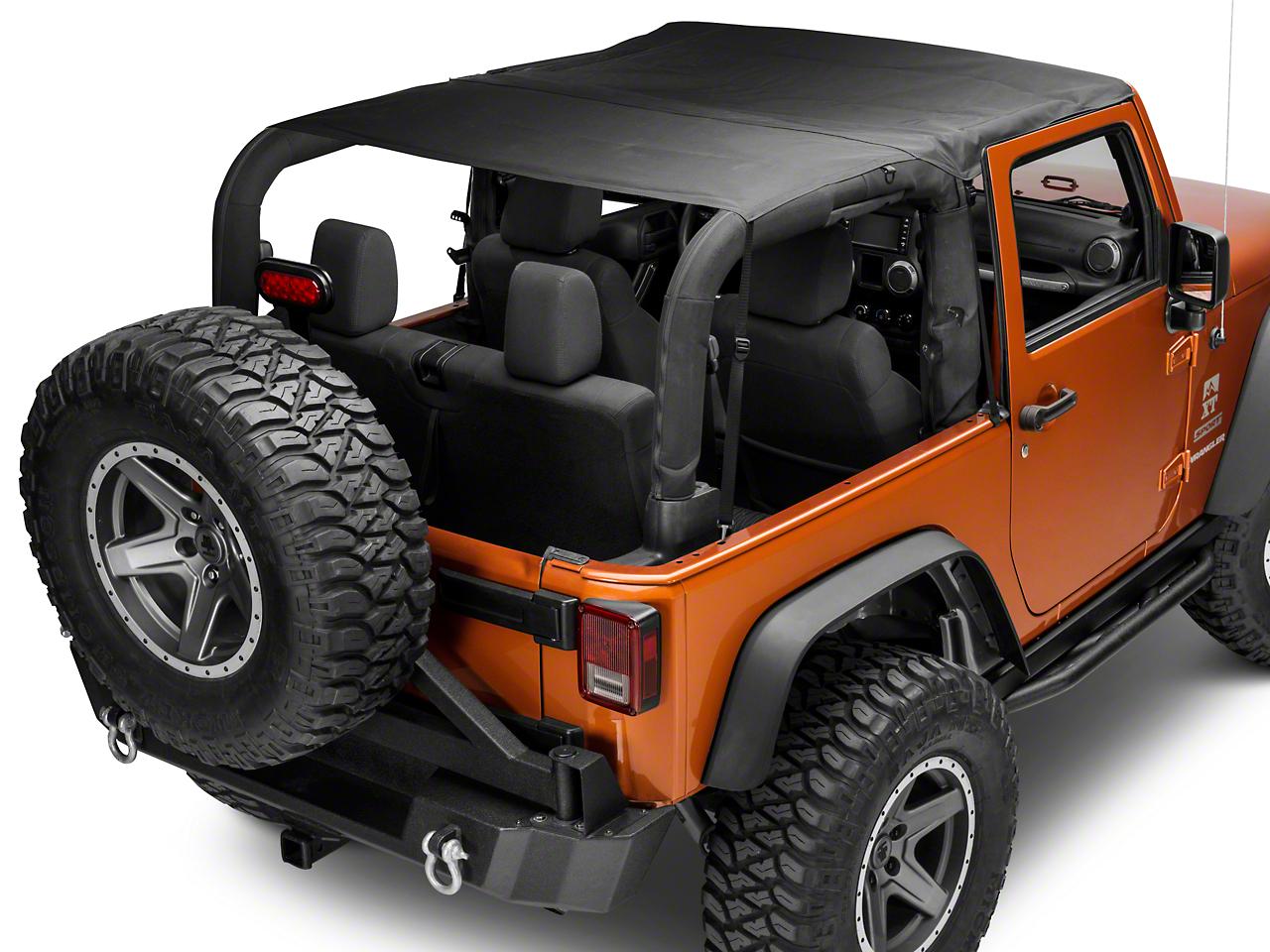 Smittybilt Extended Top - Black Diamond (07-09 Jeep Wrangler JK 2 Door)