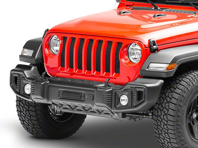 Rugged Ridge Spartacus Front Bumper - Satin Black (18-20 Jeep Wrangler JL)