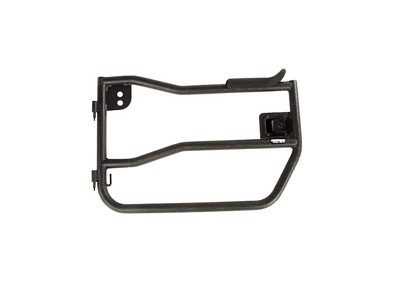 Rugged Ridge Front Tube Doors w/ Arm Rest - Textured Black (07-18 Jeep Wrangler JK)