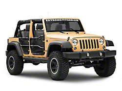 Rugged Ridge Front and Rear Tube Doors with Eclipse Door Covers (07-18 Jeep Wrangler JK 4 Door)