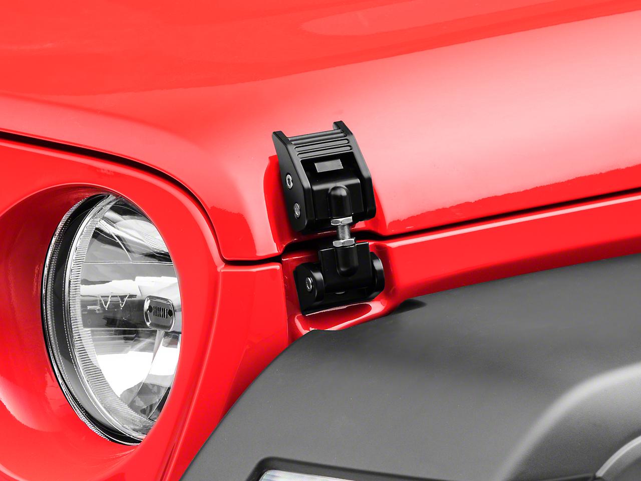 Rugged Ridge Aluminum Hood Catches - Black (2018 Jeep Wrangler JL)