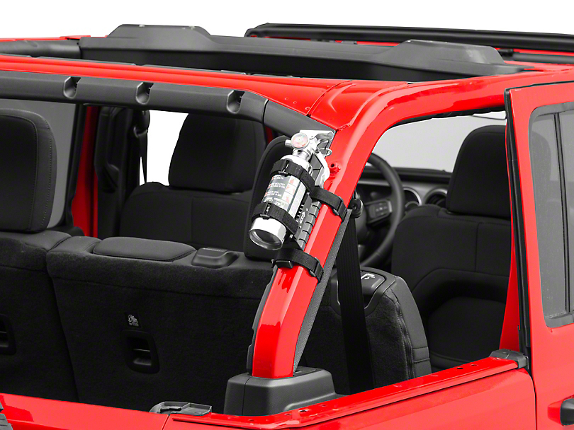 Rugged Ridge Elite Fire Extinguisher Holder (87-19 Jeep Wrangler YJ, TJ, JK & JL)