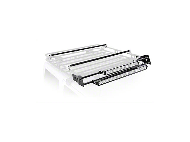 Smittybilt Defender Roof Rack LED Light Bar Mount Kit; 4-Foot